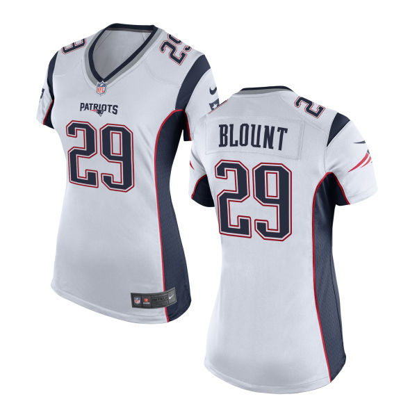 Legarrette Blount Women's Nike New England Patriots Limited White Jersey