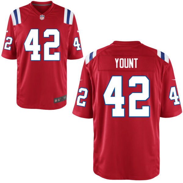Christian Yount Nike New England Patriots Limited Throwback Jersey