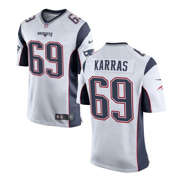Ted Karras Nike New England Patriots Game White Jersey