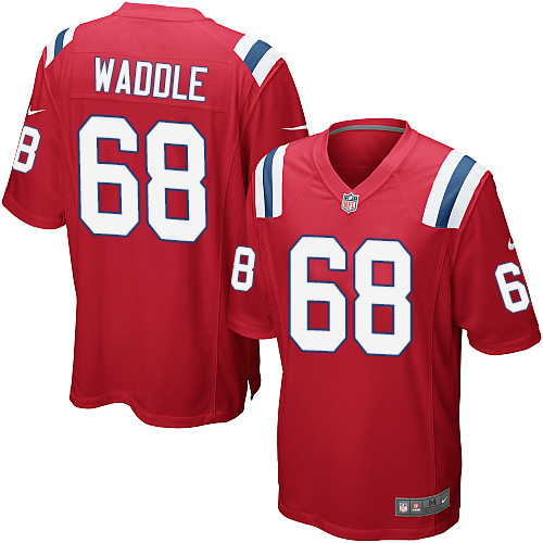 LaAdrian Waddle Nike New England Patriots Game Red Alternate Jersey