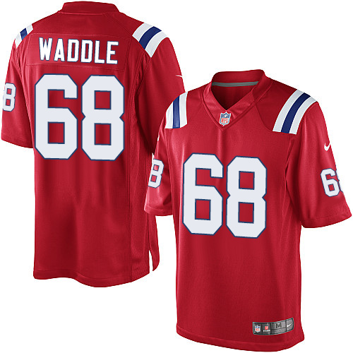 LaAdrian Waddle Youth Nike New England Patriots Elite Red Alternate Jersey