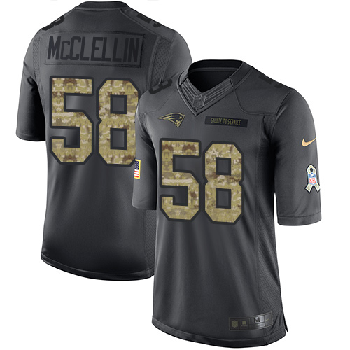Shea McClellin Nike New England Patriots Limited Black 2016 Salute to Service Jersey